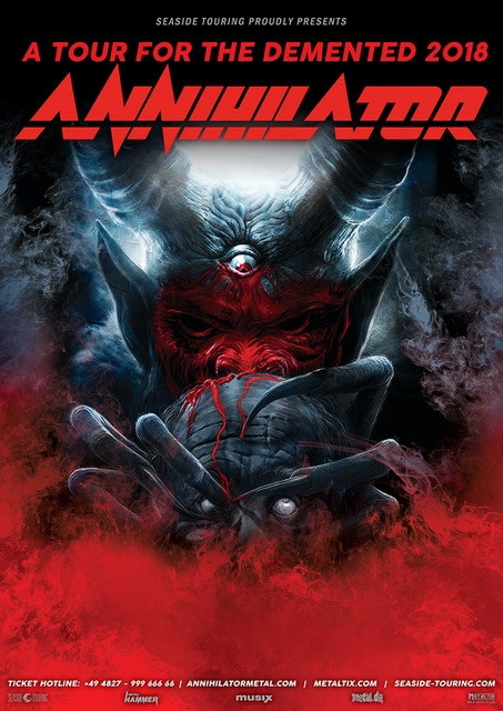 Annihilator tourforthedemented2018 poster preview