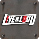 live and loud Metal Plate