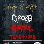 TERRAVORE, CONCRETE, CIROZA и SQUAD OF DEATH с концерт в Grindhouse Skate Park на 15-ти май