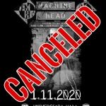 Турнето на MACHINE HEAD и концертът в София се отменят!