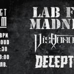 LAB FORMADNESS, DISHONORED, DECEPTION с концерт в Club Live And Loud