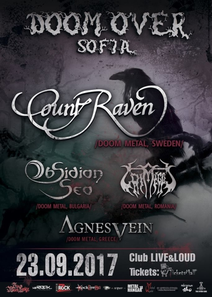 Doom Over Sofia - COUNT RAVEN, GRIMEGOD, AGNES VEIN