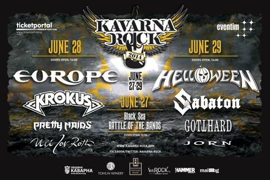 KAVARNA ROCK 2014 - EUROPE, KROKUS, PRETTY MAIDS, GUS G.