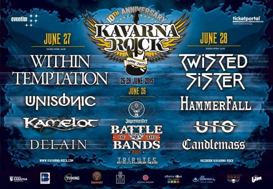 Kavarna Rock Day 3 - TWISTED SISTER, HAMMERFALL, UFO, CANDLEMASS