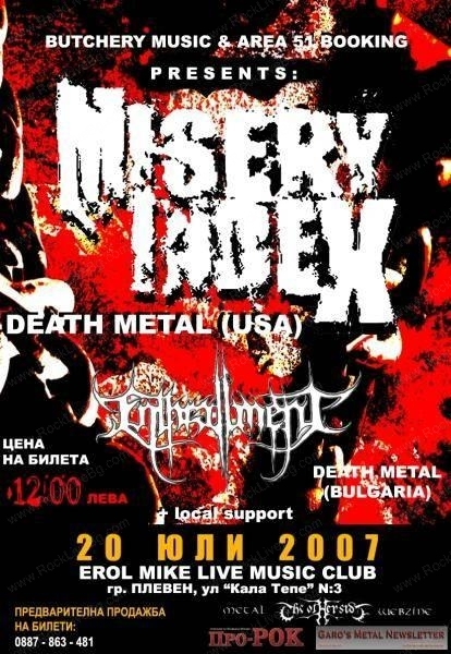MISERY INDEXS