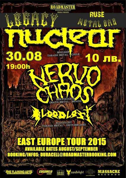 NUCLEAR, NERVOCHAOS and BLOODLOST