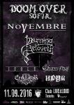 Doom Over Sofia 2016 - NOVEMBRE, MOURNING BELOVETH, ISOLE, SHORES OF NULL, EREB ALTOR