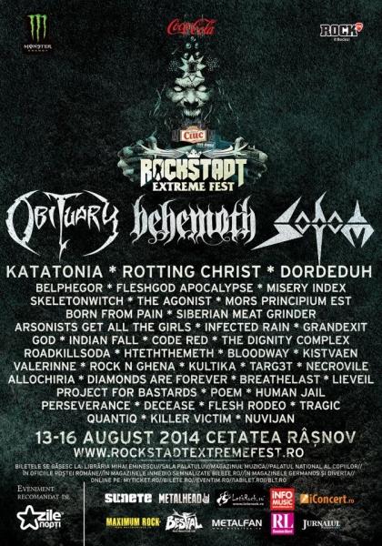 Rockstadt Extreme Fest - Behemoth, Sodom, Rotting Christ, Obituary, Katatonia