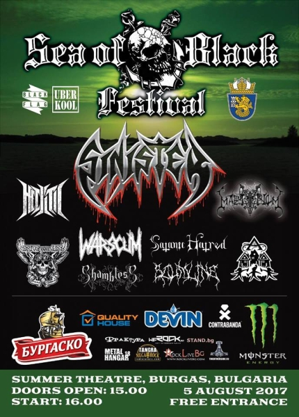 SEA OF BLACK festival - SINISTER, MARTYRIUM
