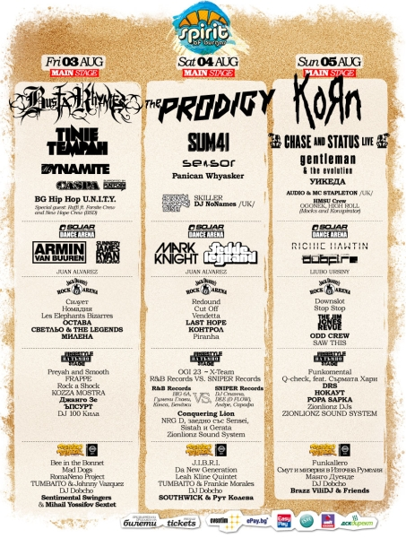 Spirit Of Burgas (day 2) - THE PRODIGY, SUM 41