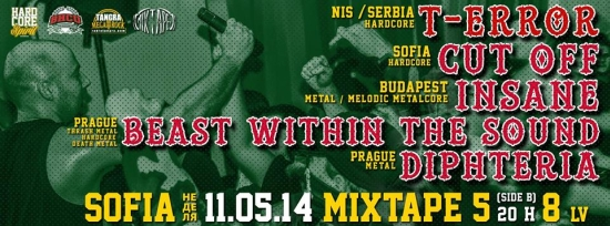 T-ERROR, BEAST WITHIN THE SOUND, DIPHTERIA, INSANE, Cut Off