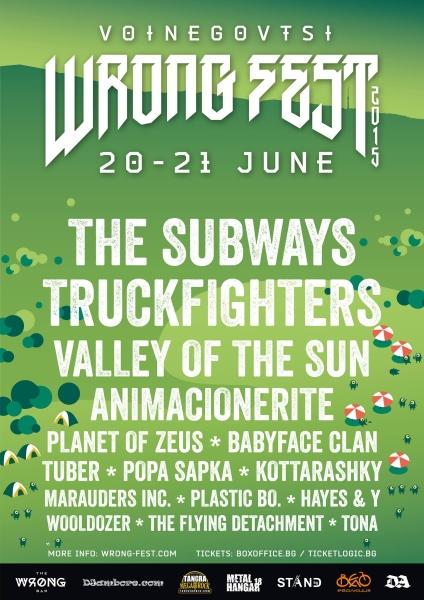 Voinegovtsi Wrong Fest - TONA, TUBER, PLANET OF ZEUS, VALLEY OF THE SUN