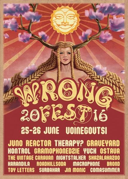 Wrong Fest 2016 - THERAPY?, JUNO REACTOR, THE VINTAGE CARAVAN