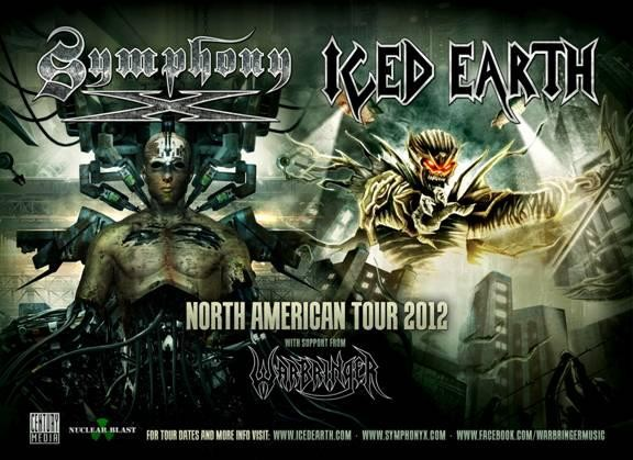 Iced Earth Symphony X tour poster